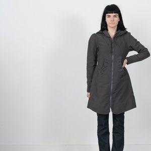Long Raincoat in Charcoal